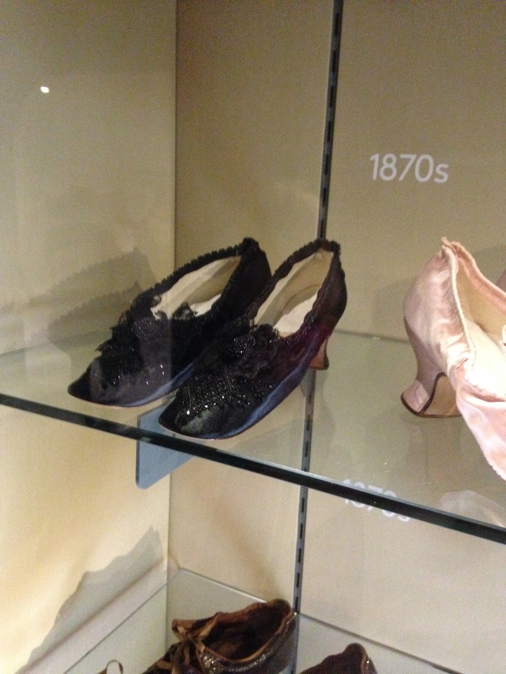 In addition to pieces of clothing, the Bath Fashion Museum also has a collection of European shoes that were fascinating to look at.