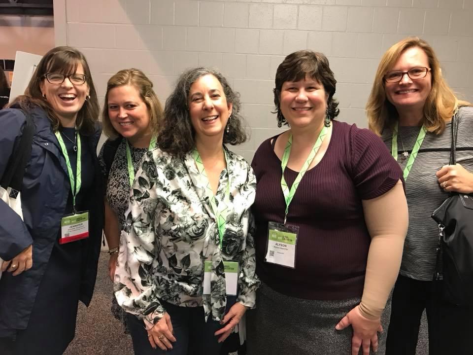 Left to right: Jen Swanson, Michele Knott, Nancy Castaldo, me, and Heather Lang