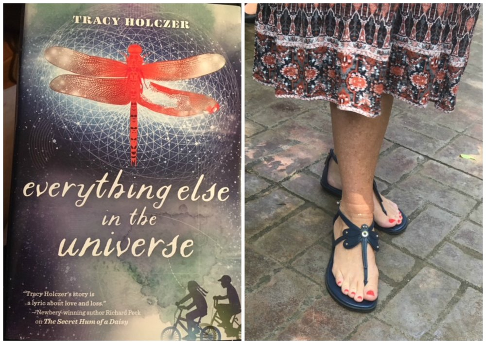 Don't you just love the Dragonfly sandals Tracy found to match her book?