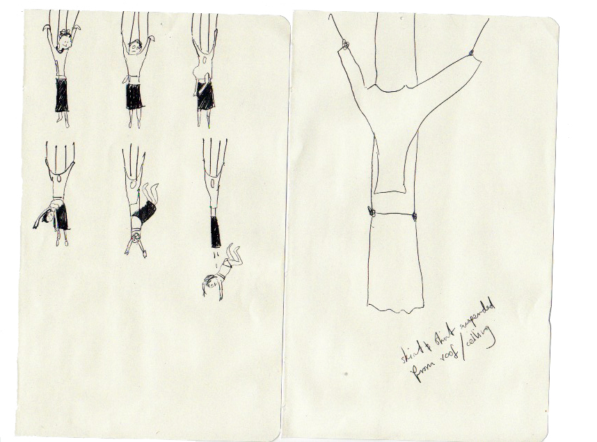 Sketch for  Suspended Dressing  2008