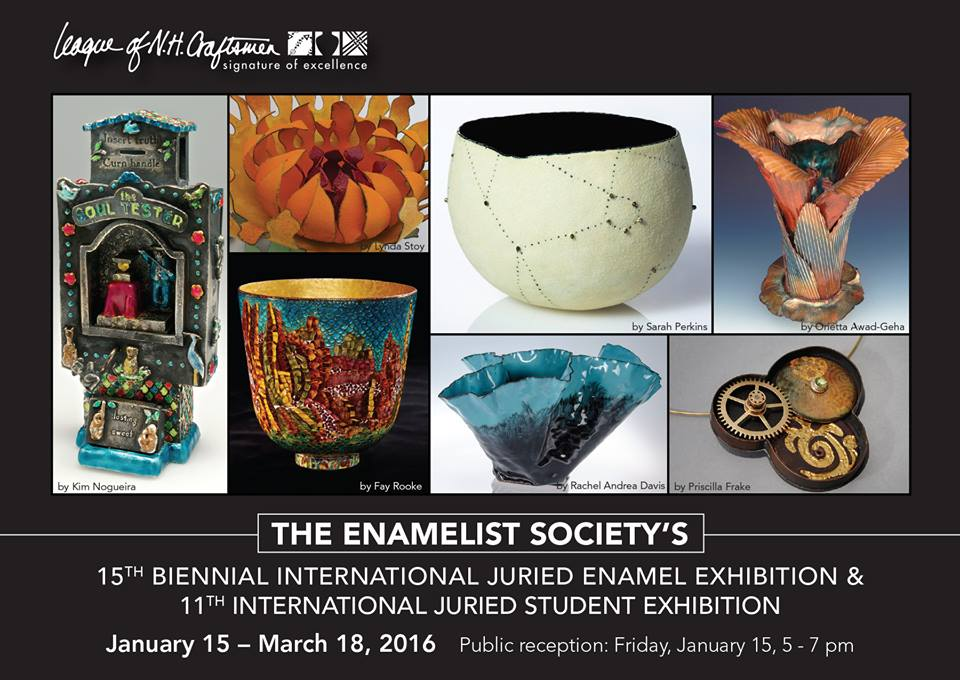 Enamelist Society's Alchemy 3 exhibition at the League of NH Craftsmen