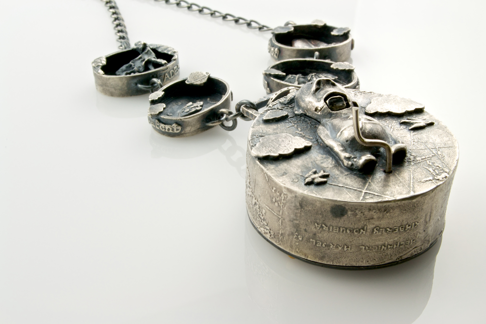 "I search for a memory so ancient"" automaton pendant by Kim Nogueira"