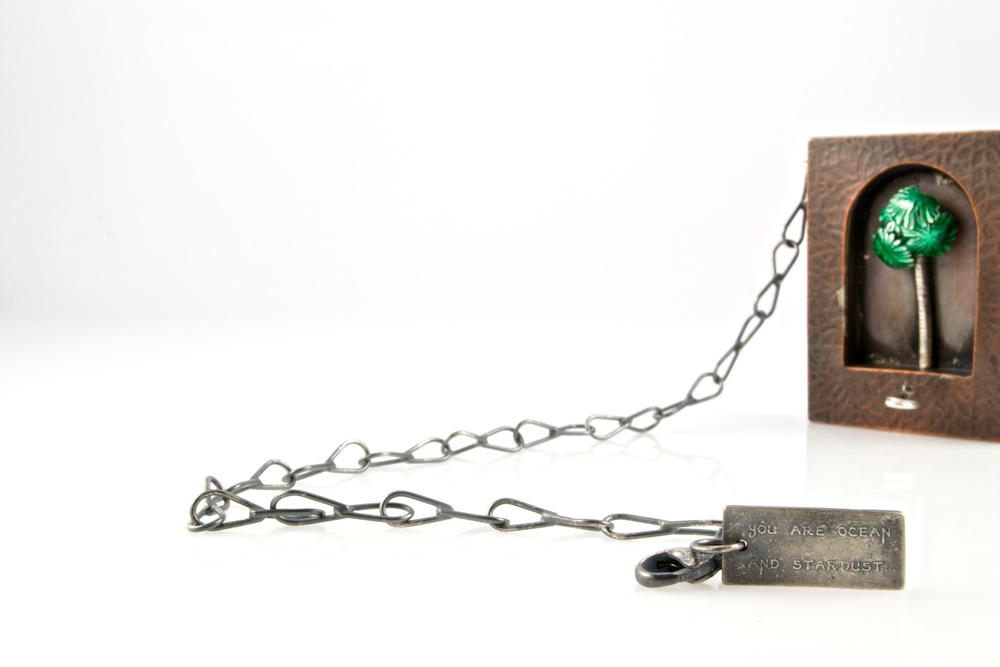 """Only this actual moment is life"" automaton pendant by Kim Nogueira"