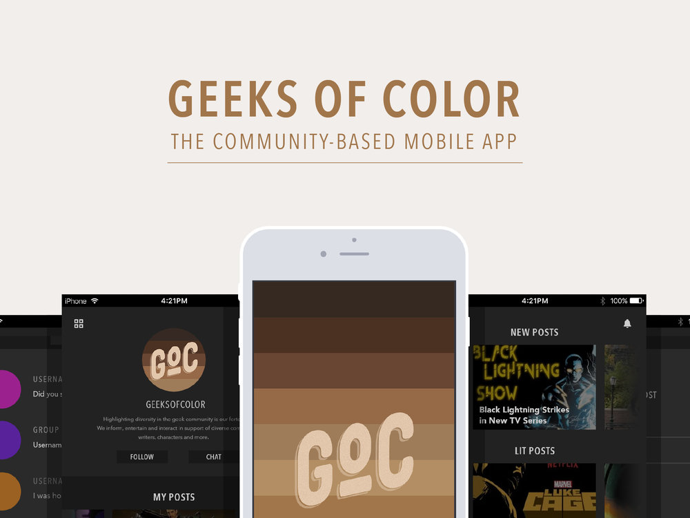 Geeks of Color Mobile App Overview