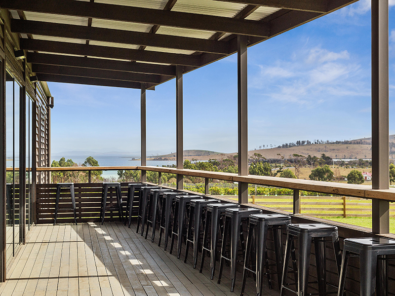 Our large deck is perfect for break out groups, pre-dinner drinks or watching the sunset over the oyster farm.