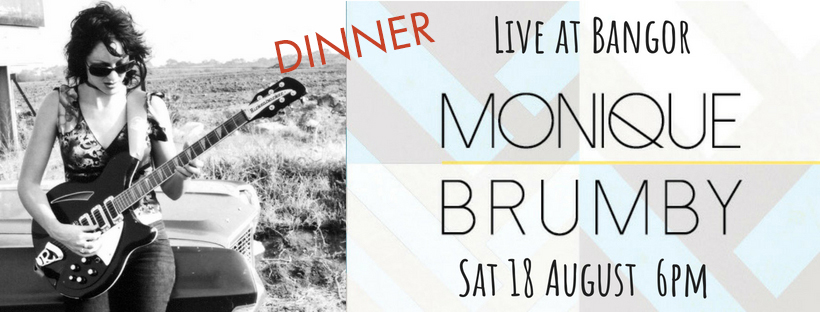Dinner with Monique Brumby - ARIA Award winning singer/song writer Monique Brumby is a Tasmanian music icon. Monique is coming to Bangor to perform her songs in an intimate live setting with an exclusive Q & A with the artist. Songs performed with her bass player of 22 years Maryanne Window will interweave with the service of our exquisite food and beverage menu. Raw and revealing, this show will provide the audience with great live music, food and storytelling, everything you need to get through the winter blues.  - Saturday 18th August, 6pm, $95 pp  - Monique Brumby live  - dinner of substantial country-style cocktail-food served throughout the evening  - welcome drink on arrival  - Return bus from Hobart available