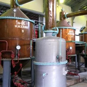 Fabrikada gül suyu ve gül yağı üretimi