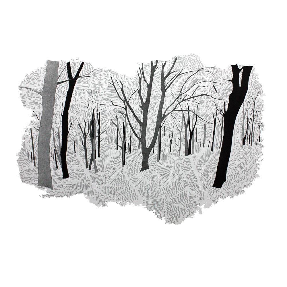 Hide & Seek 2 by Etienne de Fleurieu, gravure a l'eau forte et pointe sèche