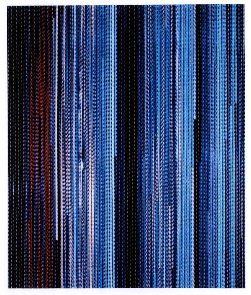 33 MINUTES DE CIEL by Etienne de Fleurieu , collage de pellicule cinématographique 8 mm
