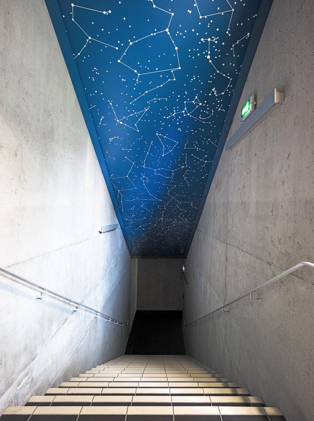 Nocturne Silencieuse by Etienne de Fleurieu, peinture sur plafond