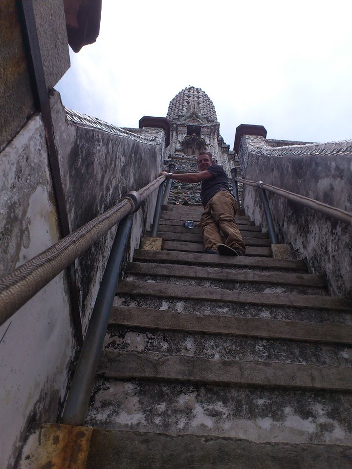 The climb up Wat Arun - worth the effort!