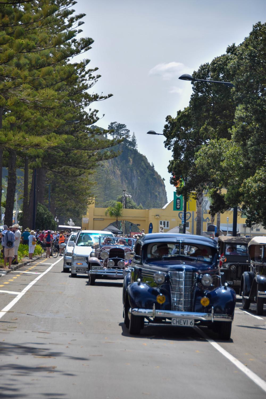 The Vintage car parade, Marine Parade