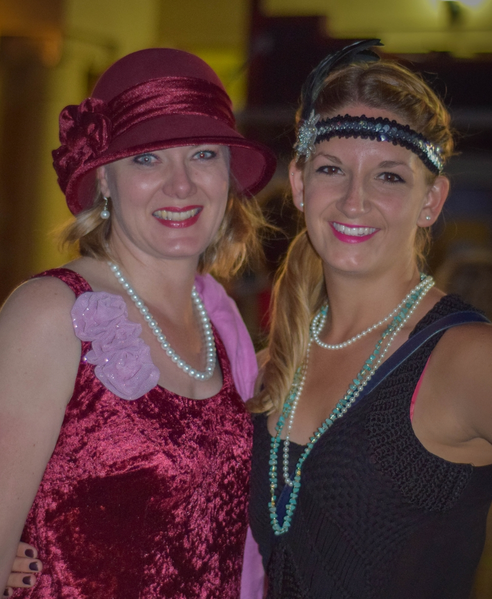 Myself and a friend in our art deco outfits - Diane made hers!