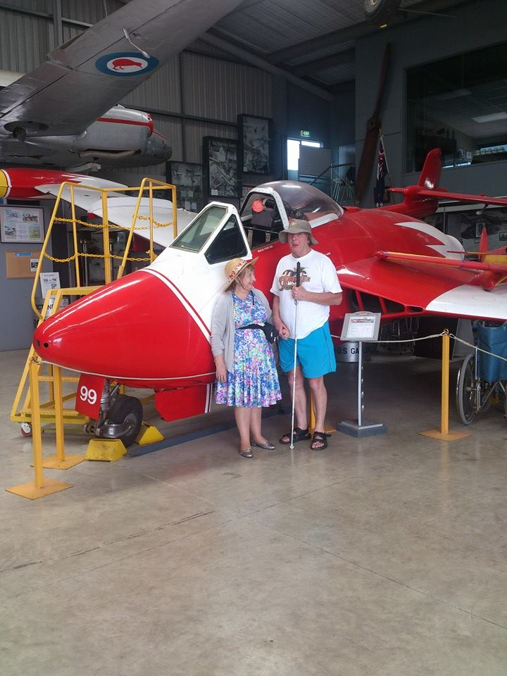 Charles & Joanne at the Classic Aviation museum