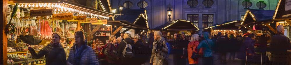 Munich Christmas Market Panorama