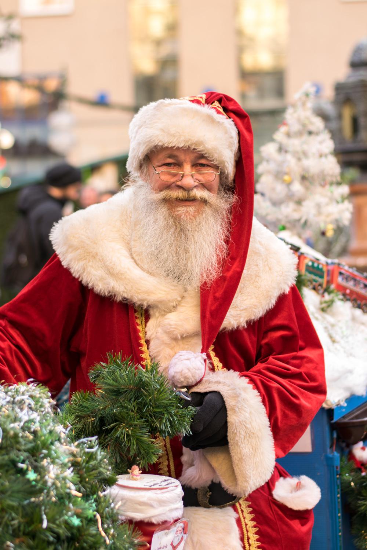 Santa at the Christmas Markets Munich
