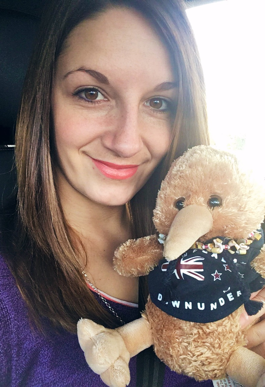 This is Ana (short for KiwiAna!) our travel mascot. You'll           see her going around the world with us!