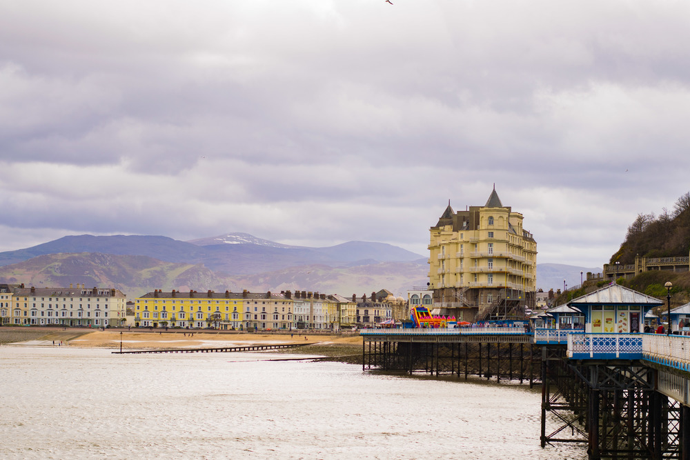 Llandudno pier and shorefront