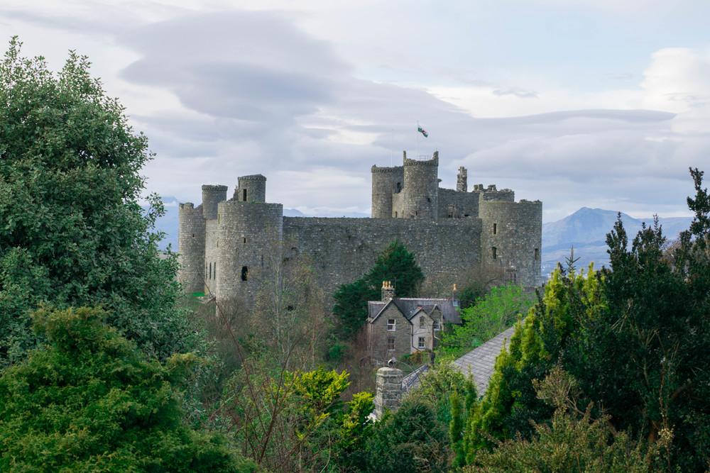 welsh castles, harlech castles,