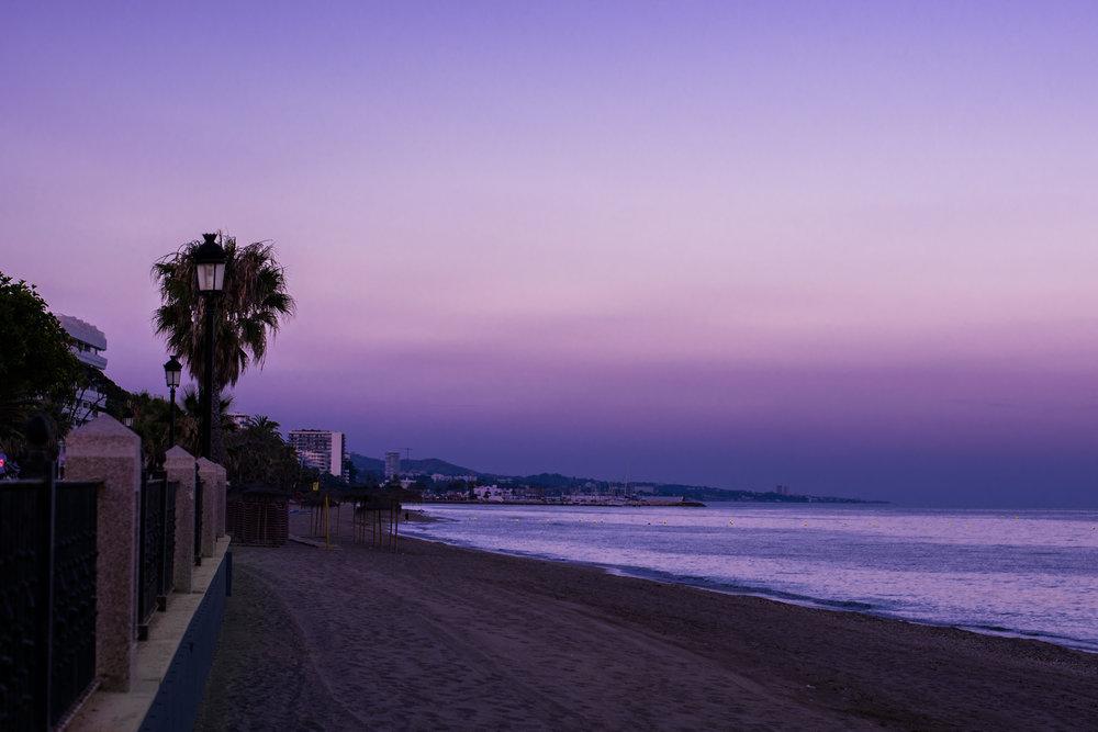 marbella, puerto banus, san pedro beach, sunset beach