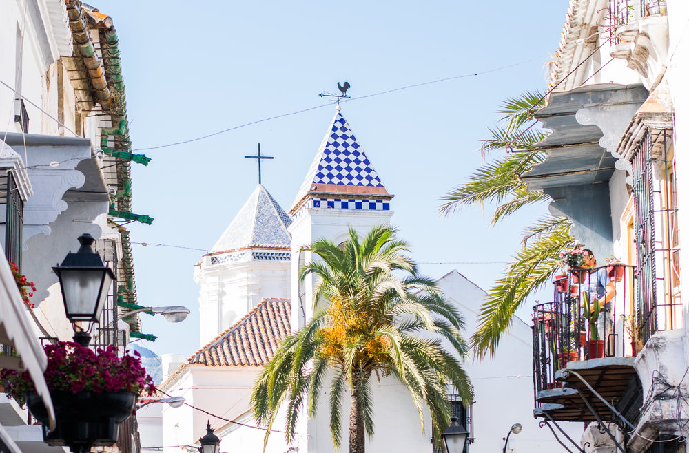 marbella old town, churches in marbella, spanish architecture