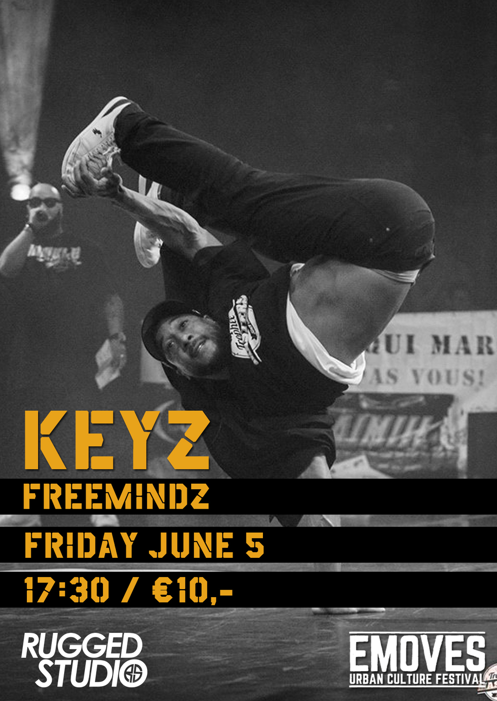 keyz breakdance workshop eindhoven rugged studio