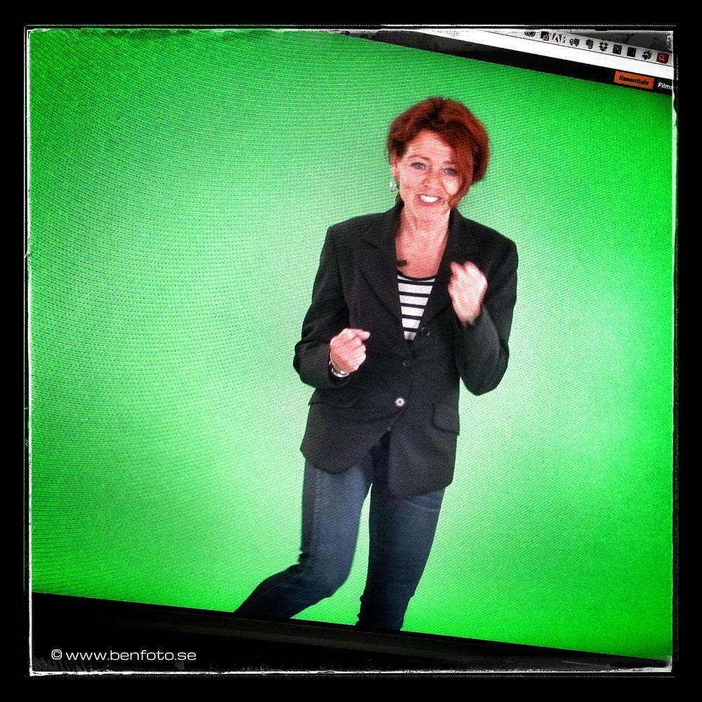 Greenscreenfilmning i min studio i Elleholm igen.
