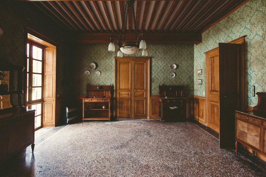 Intérieur du château de Césarges
