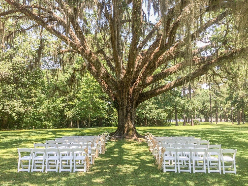 If a Beach Wedding is not exactly what your looking for.  Eden Gardens State Park and the Wesley House make for an awesome backdrop and can accomodate Afternoon Ceremonies.