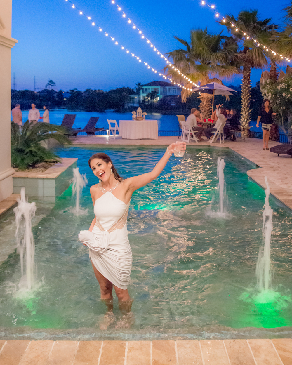 destin florida beach wedding and poolside reception