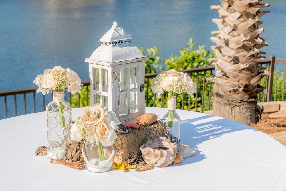 Table Decor For A Florida Beach Wedding Package