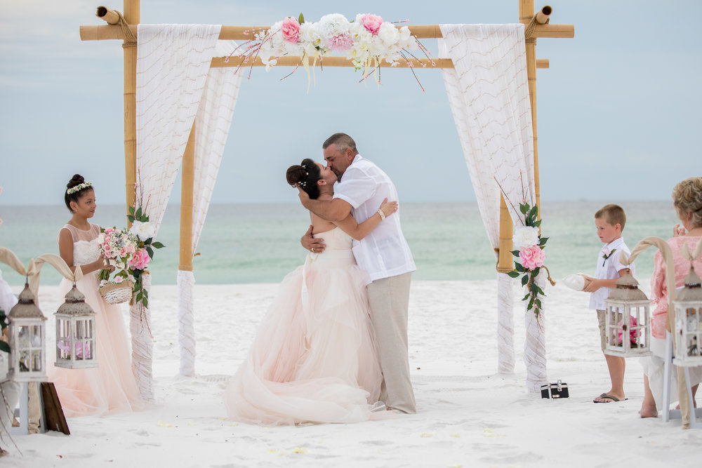 ask about our custom floral Beach Wedding setup.