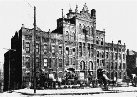 The Oppmann Brewery on the corner of Columbus and Willey Streets.