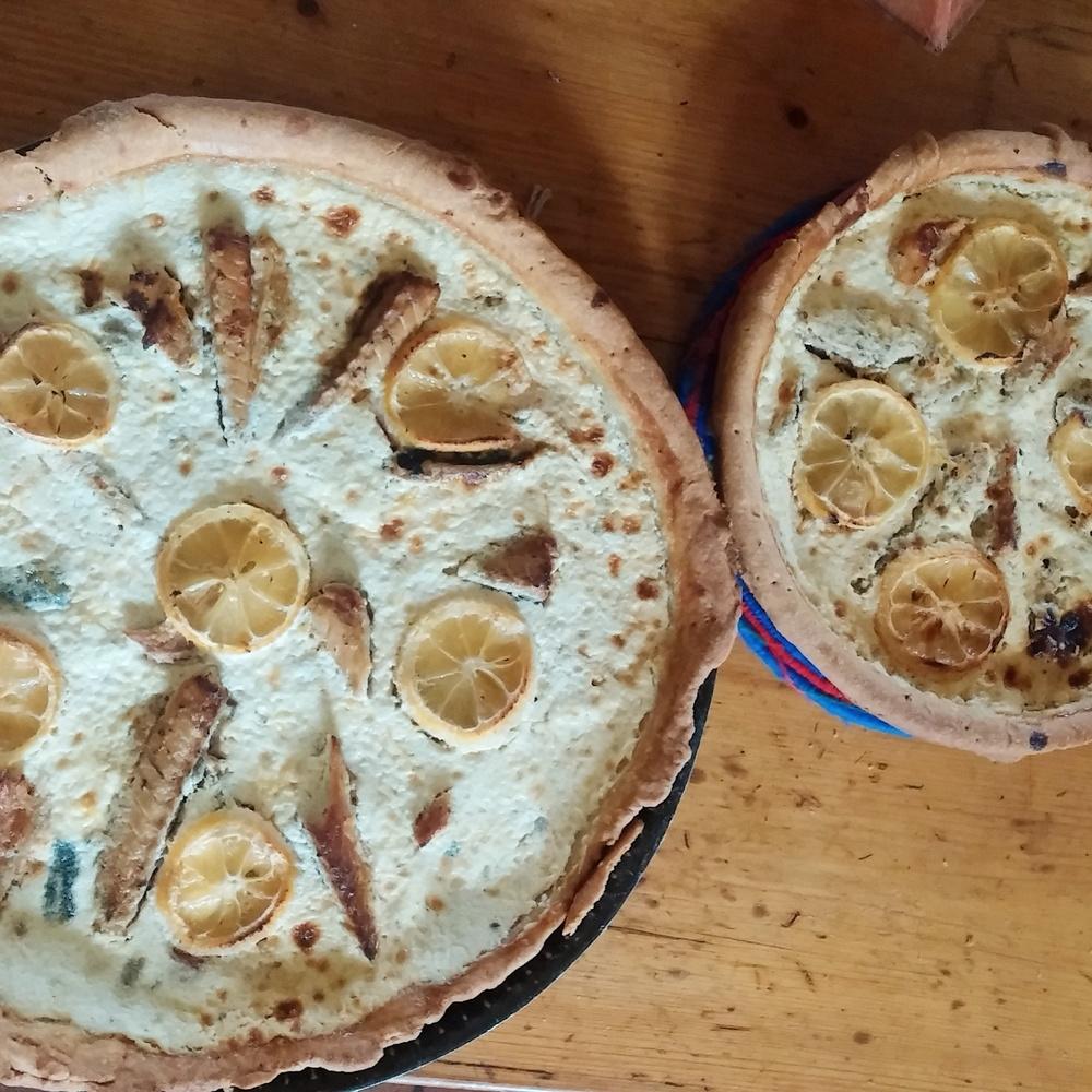 Recette de tarte citronnée aux maquereaux et à la moutarde