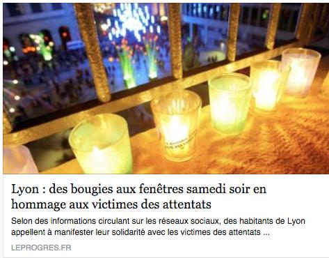 lumieres fenetres hommages victimes attentats Paris