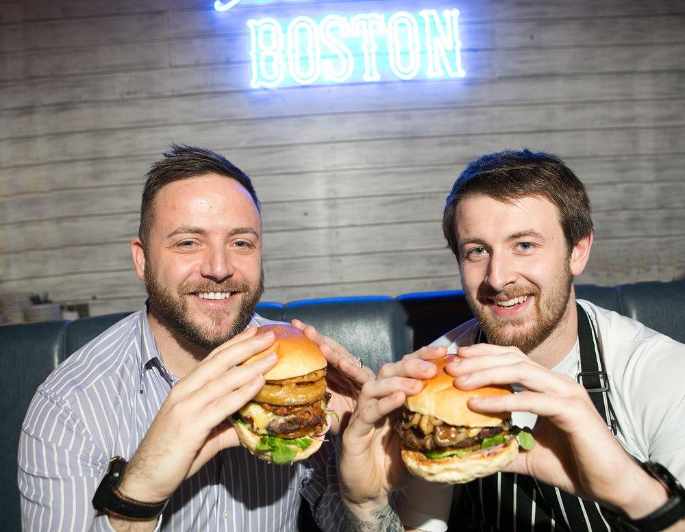 Boston Grill proprietor Robert McGregor & head chef Andrew Logan