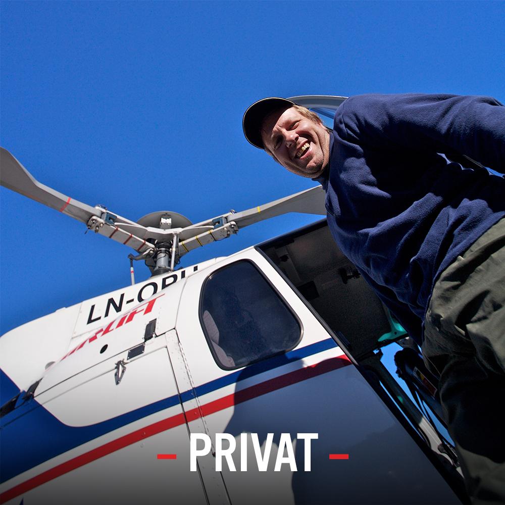 Hyttebygging Persontransport Turistflyging Jakt og fiske