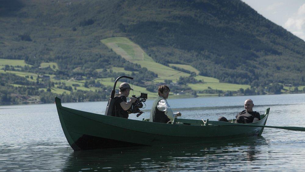 """Hovedrollen spilles av Thure Lindhardt, som er kjent fra blant annet serien """"Broen"""""""". Alle foto: Poul Iversen/Handmade Films In Norwegian Woods."""