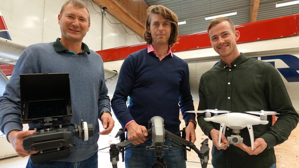 Børre Eimhjellen, Olav Aleksander Bu og Stian Berger er glad godkjenningen er på plass.