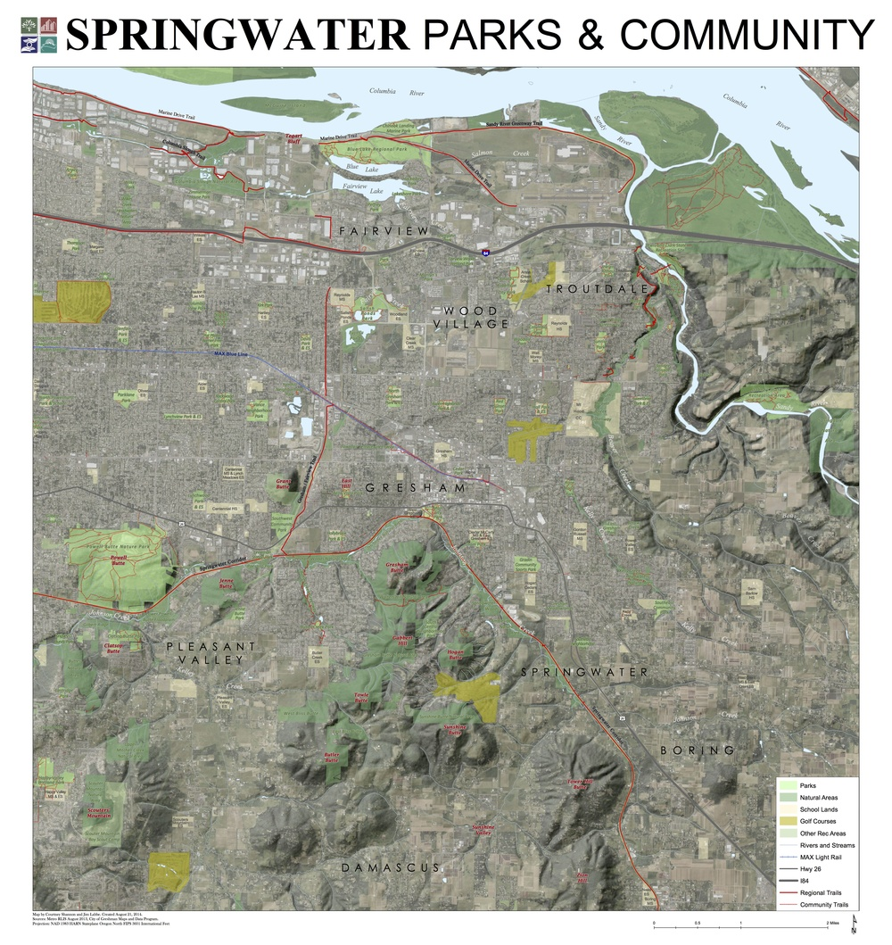 Sample of a defined geographic area that could be suitable for a special use district dedicated to providing parks, recreation and community services to East Multnomah County.