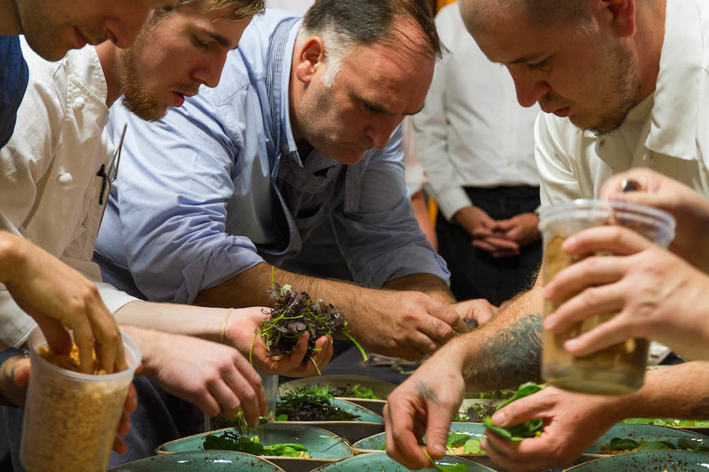 Chefs prepare for The Roots conference dinner