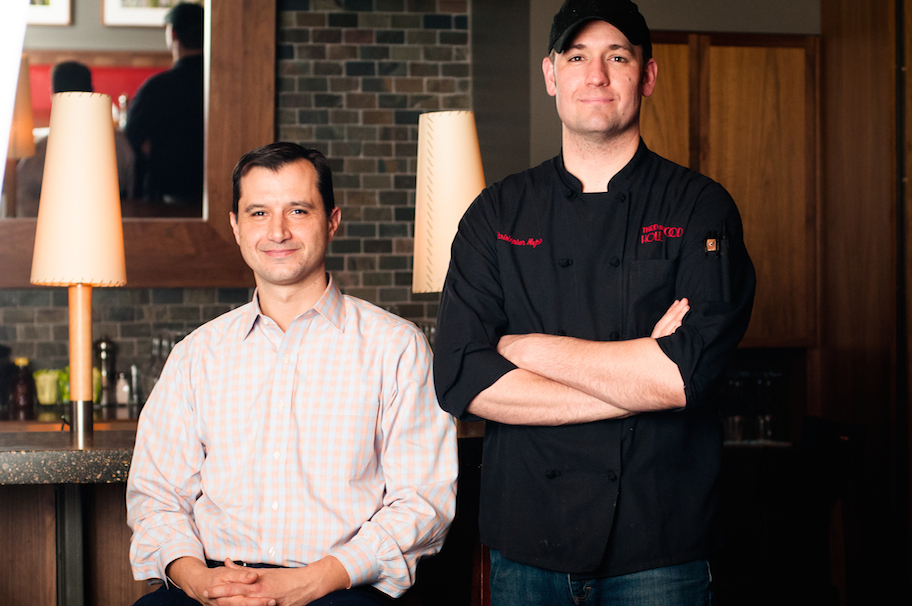 Kevin Malhame (left), co-founder of Northstar Cafe, Third & Hollywood and Brassica. Chris Nufrio (right), Lead Culinary Partner.