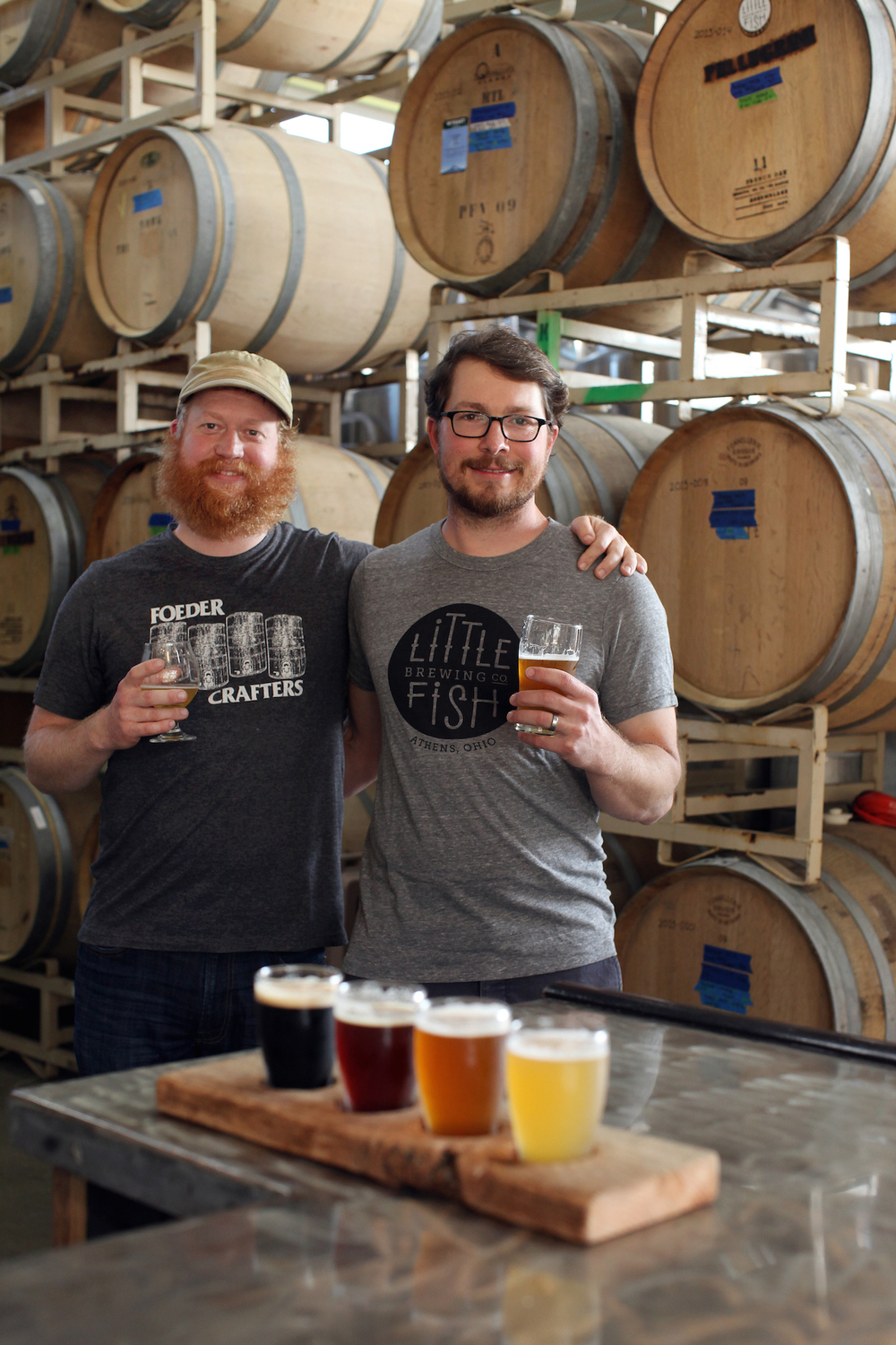 Little Fish Brewing Company owners Jimmy Stockwell (left) and Sean White (right). Photo by Sarah Warda.