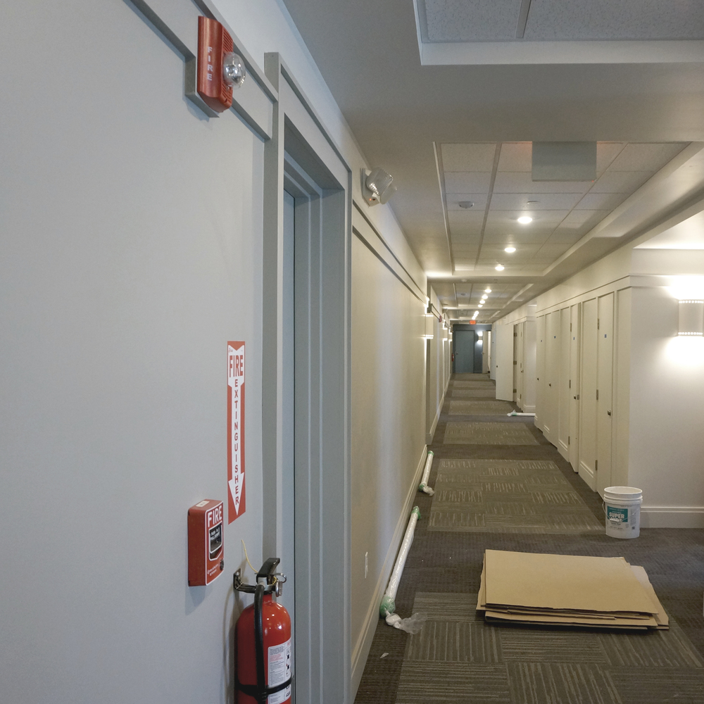 The corridors are almost finished.