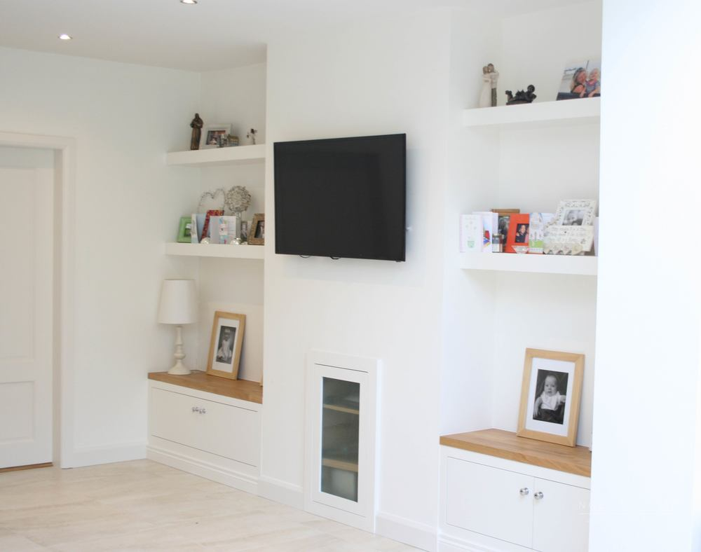 Alcoves noel dempsey design - What size tv to get for living room ...