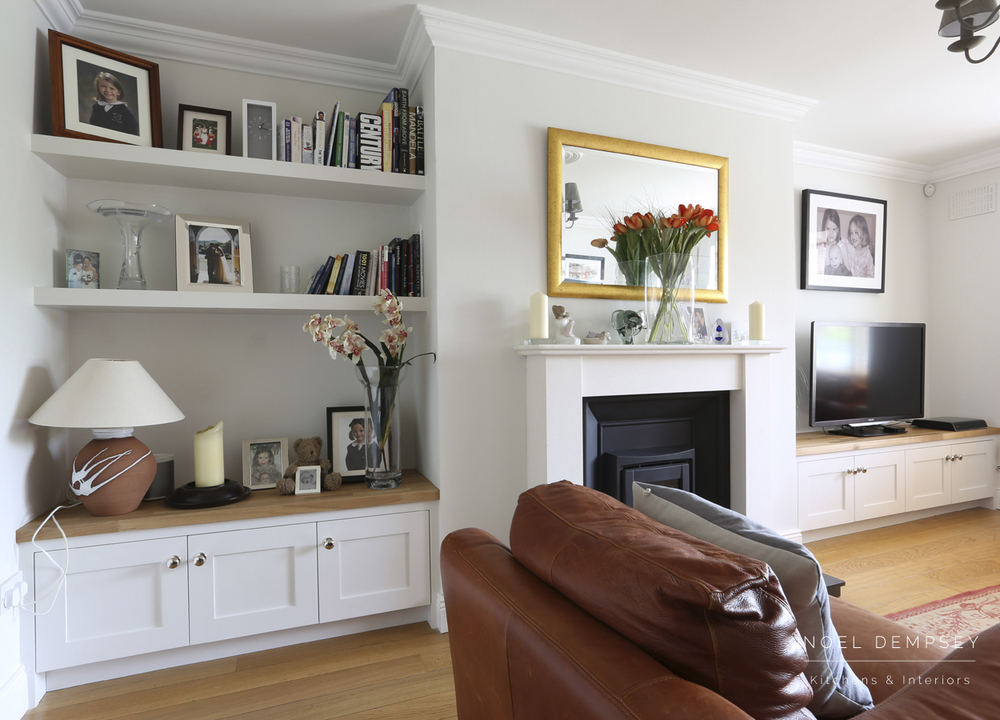 Alcoves noel dempsey design for Living room decorating ideas ireland