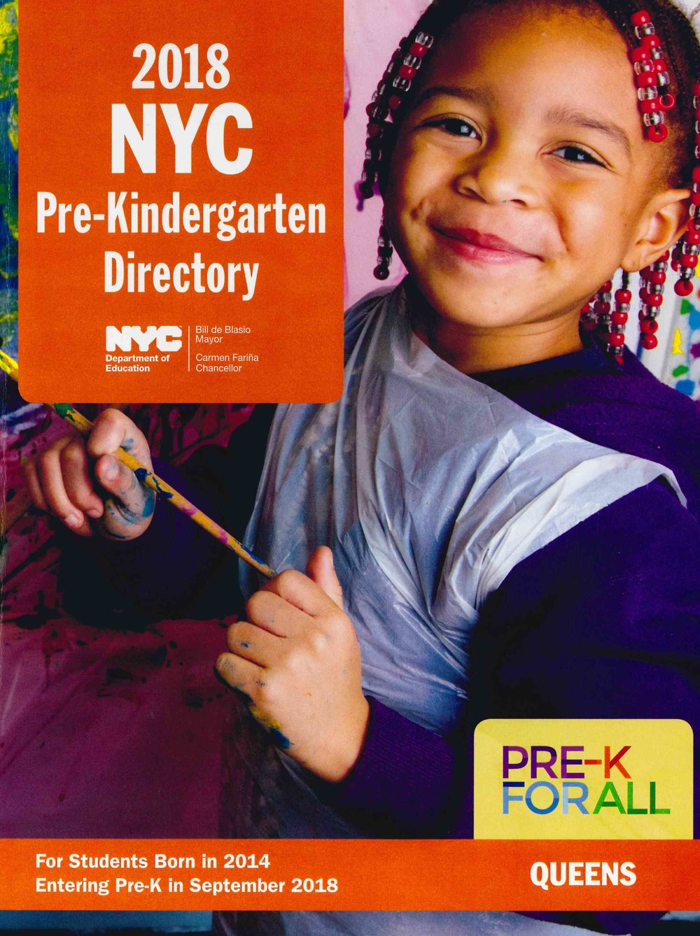 This is what the pre-k directory looks like.  We have copies here at our school or you can download one from the NYC Schools website, see above.