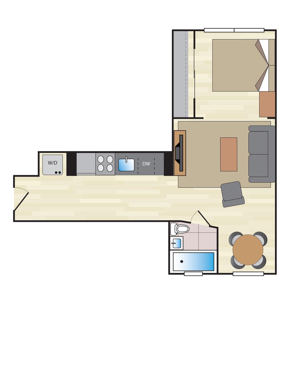 1 Bedroom F