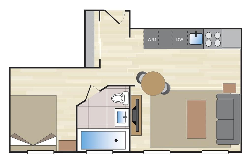 1 Bedroom B