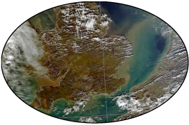 A satellite photo showing the irreversible loss of topsoil following the flooding of 2014.